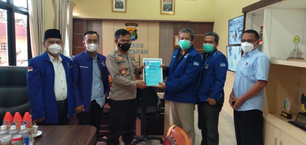 Pengurus Dan Anggota DPRD Fraksi Demokrat Sambangi Polres Pesawaran