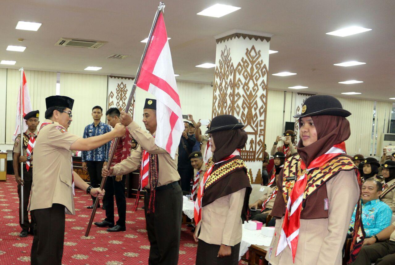 Pemprov Lampung Lepas Pramuka Ikuti Jambore ASEAN ke Filipina