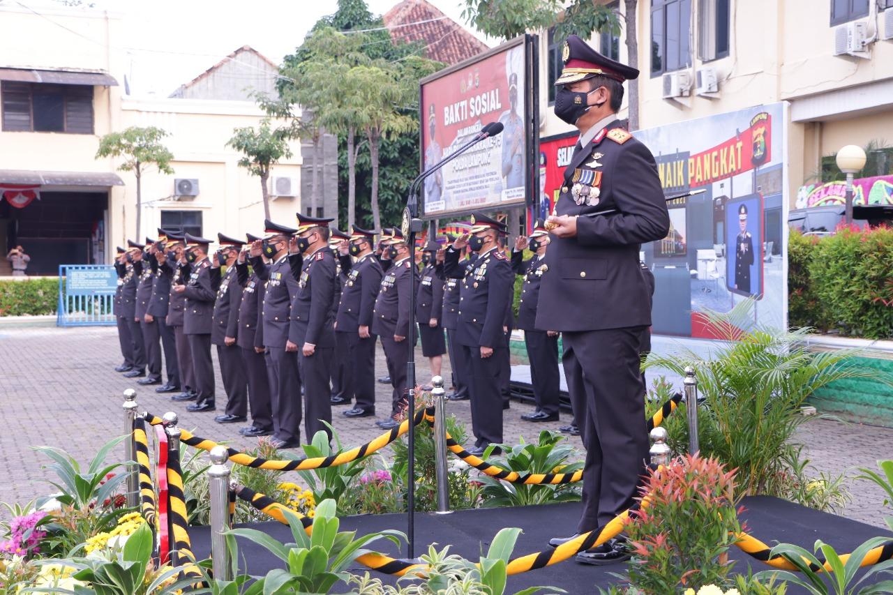 Ratusan Personel Polda Lampung Dapat Kenaikan Pangkat