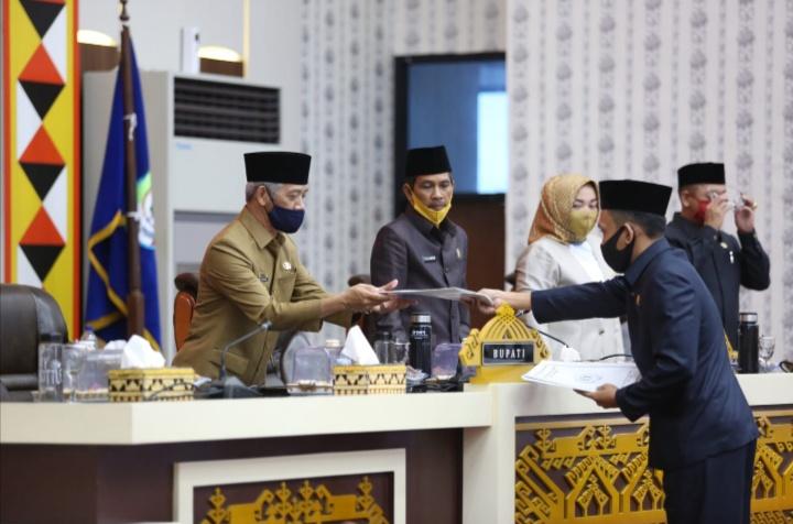 Perda Perubahan APBD Kabupaten Pringsewu 2020 Disahkan
