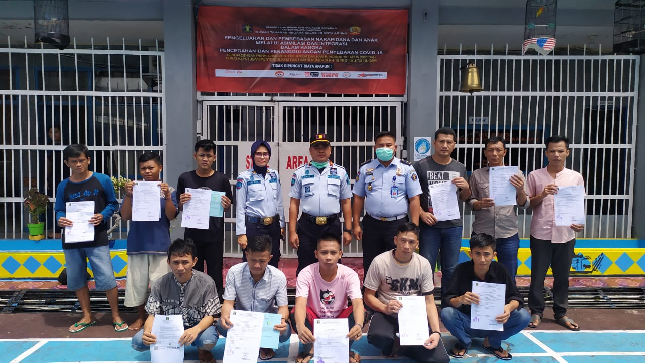 Terkait Covid-19, Rutan Kotaagung Bebaskan 11 Warga Binaan