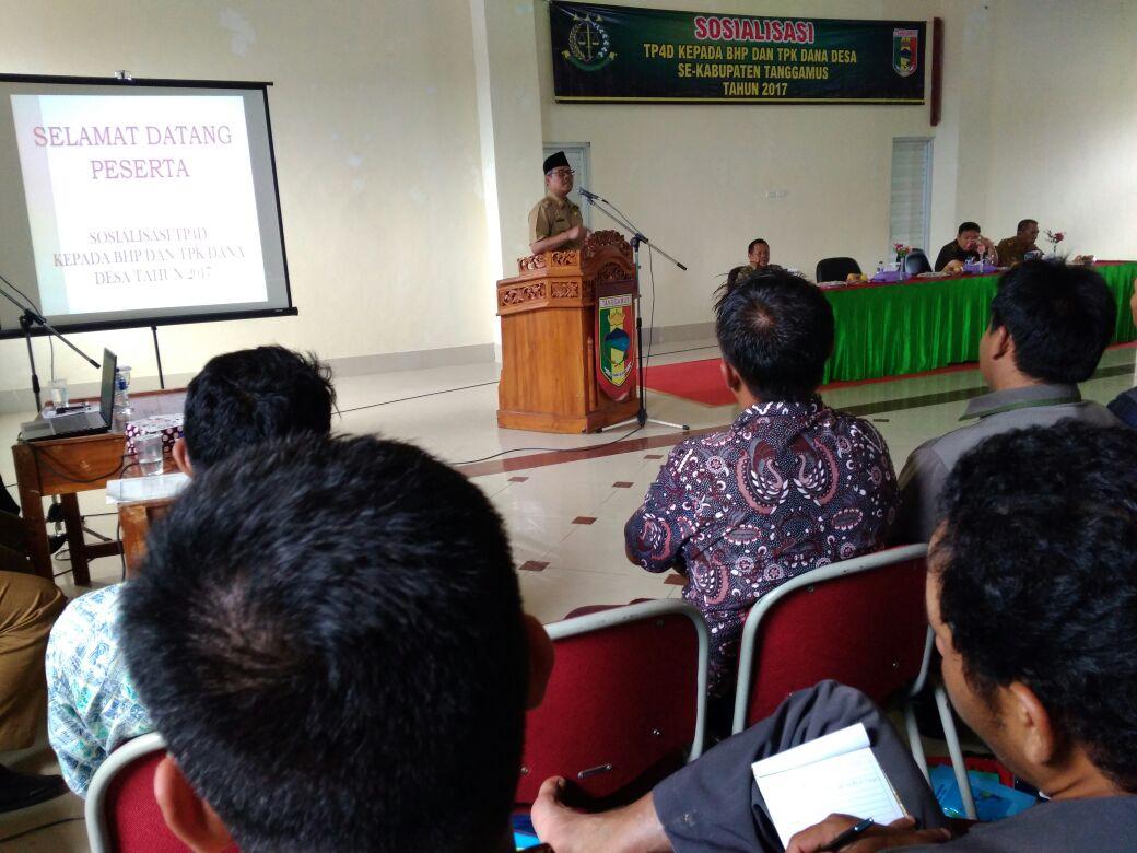 Sosialisasi Tim Pengawal dan Pengamaman Pemerintah dan Pembangunan Daerah (TP4D)