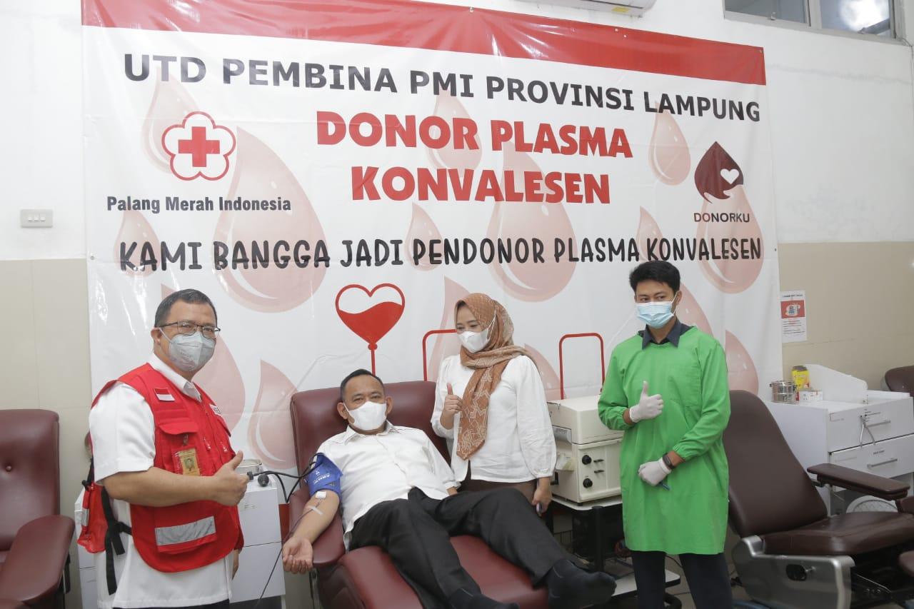 Ajak & Beri Contoh Penyitas Covid-19, Wabup Pringsewu Donorkan Plasma Konvalesen