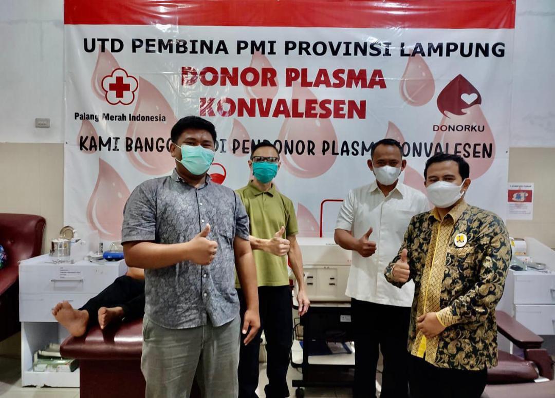 Ikuti Jejak Wabup, Koordinator Kotaku Pringsewu Donorkan Plasma Konvalesen