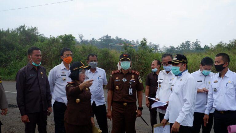Kajati Lampung Tinjau Lokasi Lahan Kantor Kejari Pesawaran