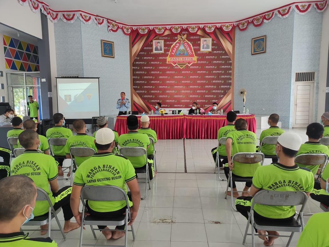 50 Tahanan Lapas Gunung Sugih Ikuti Penyuluhan Bantuan Hukum.