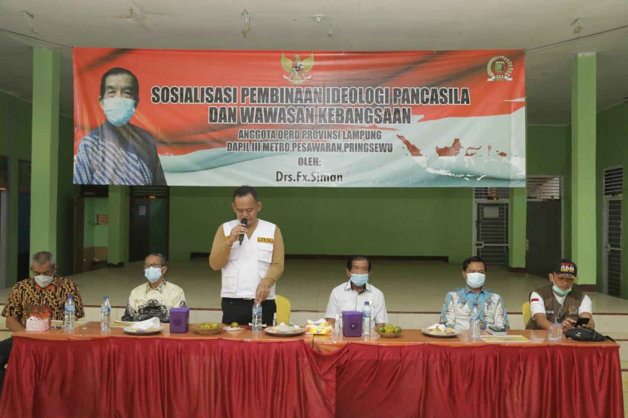 Sosialisasi Ideologi Pancasila dan Wawasan Kebangsaan Pekon Waringinsari