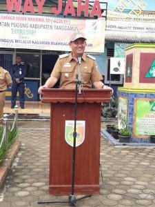 Wabup Syafi'i Buka O2SN Tingkat SD Kecamatan Pugung