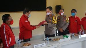 Dukung Polri Usut Pembakaran Bendera, DPC PDIP Pesawaran Sambangi Polres