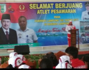 Ketua KONI Pesawaran Minta Atlet Tanamkan Mental Juara.