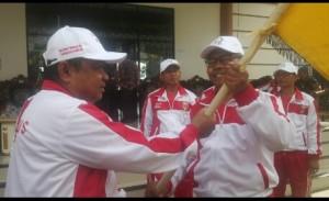 Samsul Hadi Lepas Kontingen Porprov Kabupaten Tanggamus.