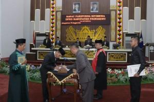 Aminallah Gantikan Ilyasa Jabat Ketua DPRD Pringsewu