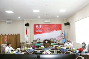 Bupati Pringsewu Ikuti Acara Penyerahan DIPA & TKDD 2021 Oleh Presiden Secara Virtual