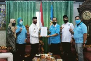 Bupati Pringsewu Terima Audiensi DPD Partai Gelora