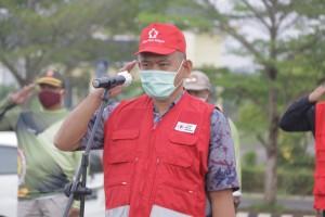 PMI Pringsewu Adakan Penyemprotan Disinfektan