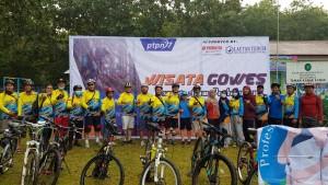 Ratusan Pesepeda Ramaikan Wisata Gowes PTPN VII Wayberulu