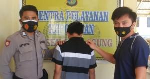 Tersangka Perampas HP Di Jalan Islamic Center Ditangkap Polsek Kota Agung.