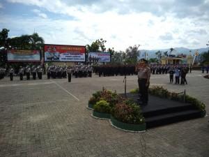 Upacara Serah Terima Pataka Wira Bhakti Ruwa Jurai Polda Lampung Berlangsung Khidmat