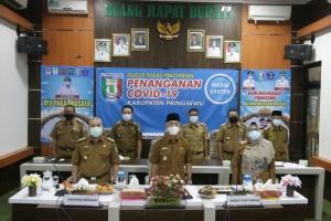 Presiden Jokowi, Buka Rakernas Pertanian Secara Daring.