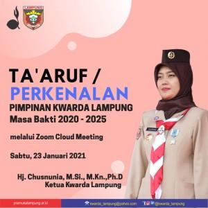 Nunik Pimpin Ta'aruf Jajaran Kwarda Lampung
