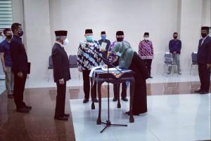 Sembilan Pejabat Pemkab Pringsewu Dilantik