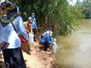 DKP Beri Bantuan Restocking Benih Ikan Kepada Pokmaswas Kabupaten Pringsewu.