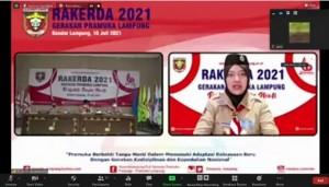 Ka. Kwarda Buka Rakerda Gerakan Pramuka Lampung.