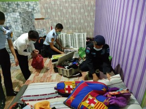 Rutan Kelas IIB Kota Bumi Gelar Razia Insidentil Pengeledahan Kamar Hunian WBP.