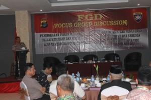 Polda Lampung Bersama Polres Pringsewu Gelar FGD Peningkatan Peran Masyarakat