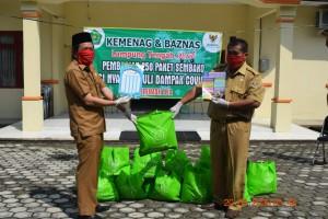 Peduli Covid-19, Kemenag dan BAZNAS Bagikan 250 Paket Sembako