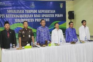 Sosialisasi Terpadu BPJS Ketenagakerjaan Bagi Aparatur Pekon.