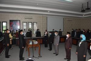 Bupati Tubaba Lantik Lima Pejabat Pimpinan Tinggi Pratama