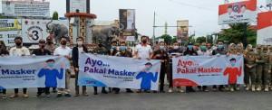 SMSI Lampung Bersama TNI Dan Polri, Bagikan 3000 Masker.
